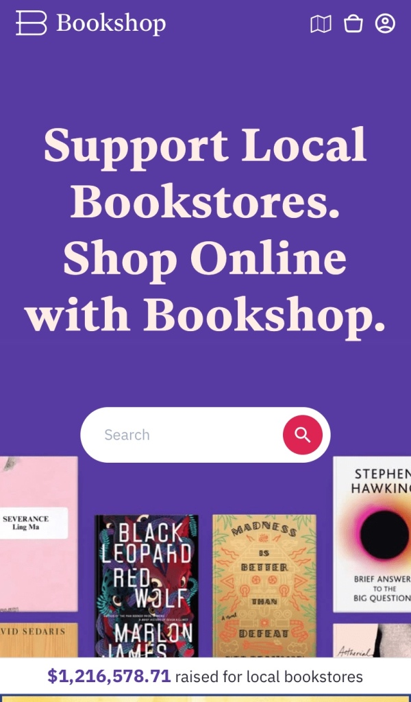 Support bookshop.org to help indie bookstores.